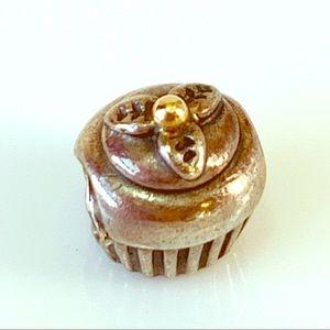Pandora Jewelry - Pandora Cupcake Charm 925 14k Cherry ALE